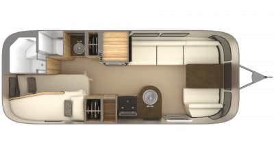 2019 Airstream Flying Cloud 23CB Floor Plan Img