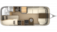 2019 Airstream Flying Cloud 23CB Floor Plan