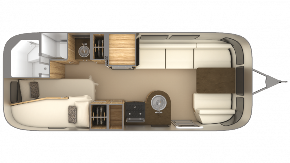 2019 Airstream Flying Cloud 23CB BUNK Floor Plan Img