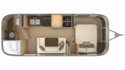 2019 Airstream Flying Cloud 23FB Floor Plan Img