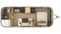 2019 Airstream Flying Cloud 23FB Floor Plan
