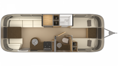 2019 Airstream Flying Cloud 25FB TWIN Floor Plan Img