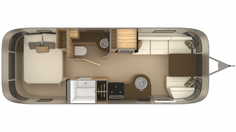 2019 Airstream Flying Cloud 25RB Floor Plan Img