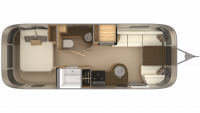 2019 Airstream Flying Cloud 25RB Floor Plan