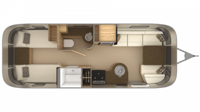 2019 Airstream Flying Cloud 25RB TWIN Floor Plan Img