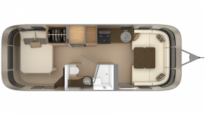 2019 Airstream Flying Cloud 26RB Floor Plan Img