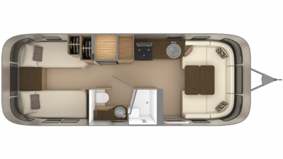 2019 Airstream Flying Cloud 26RB TWIN Floor Plan Img