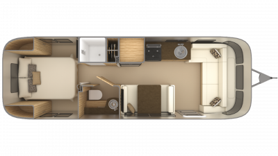 2019 Airstream Flying Cloud 28RB Floor Plan Img
