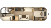 2019 Airstream Flying Cloud 30FB BUNK Floor Plan