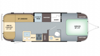 2018 Airstream Globetrotter 27FB Floor Plan