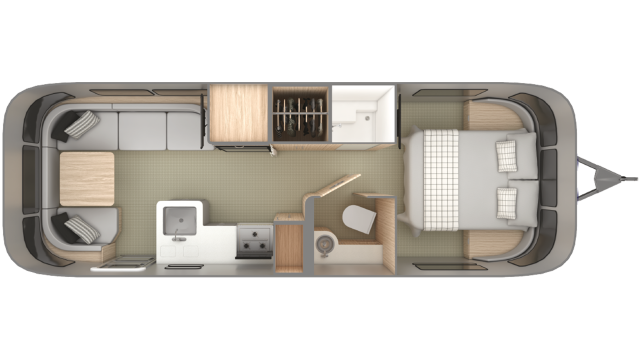 2019 Airstream Globetrotter 27FB Floor Plan