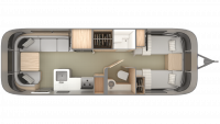 2019 Airstream Globetrotter 27FB Twin Floor Plan