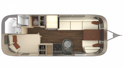 2019 Airstream International Serenity 23CB Floor Plan Img