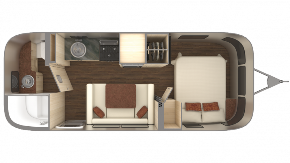 2019 Airstream International Serenity 23FB Floor Plan Img