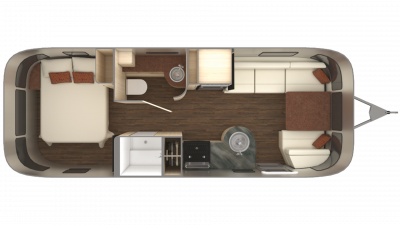 2019 Airstream International Serenity 25RB Floor Plan Img