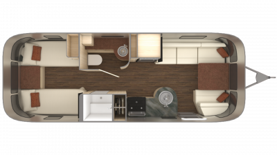 2019 Airstream International Serenity 25RB TWIN Floor Plan Img