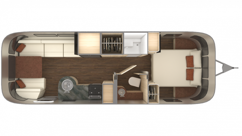 2019 Airstream International Serenity 27FB Floor Plan Img