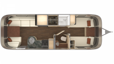 2019 Airstream International Serenity 27FB TWIN Floor Plan Img
