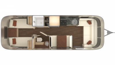 2019 Airstream International Serenity 28RB TWIN Floor Plan Img