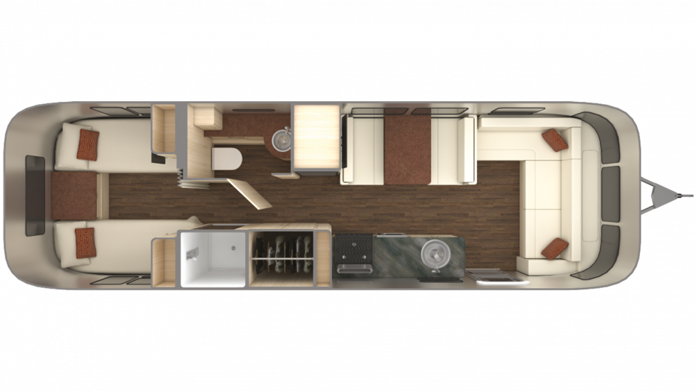 2019 Airstream International Serenity 30 TWIN Floor Plan Img