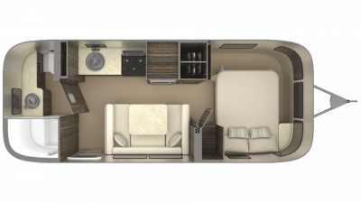 2019 Airstream International Signature 23FB Floor Plan Img