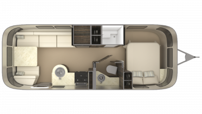 2019 Airstream International Signature 25FB Floor Plan Img