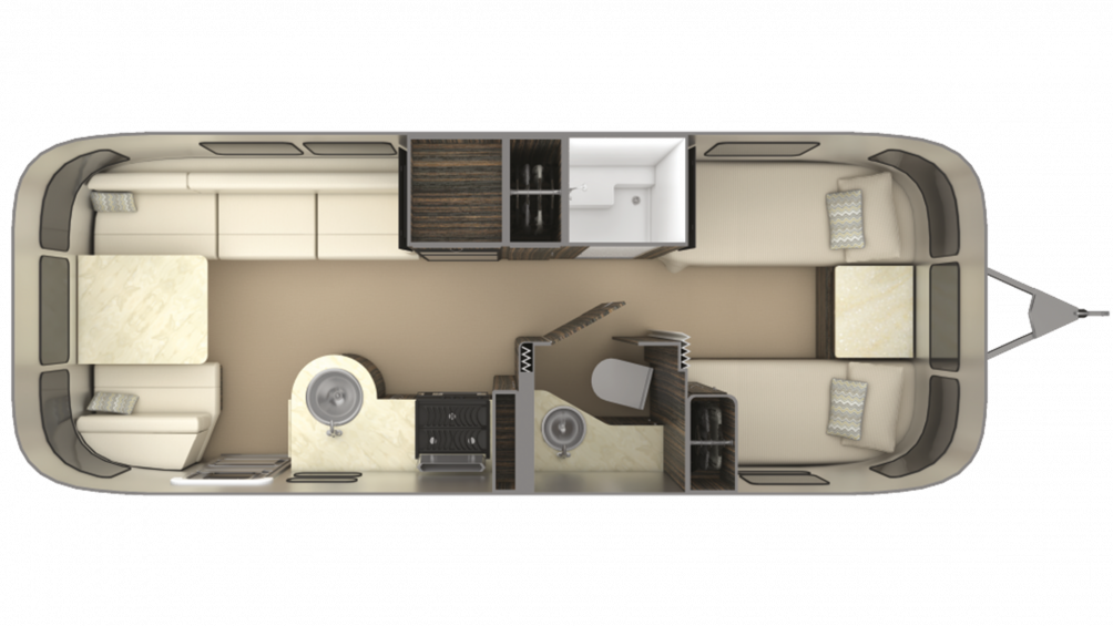 2019 Airstream International Signature 25FB TWIN Floor Plan Img