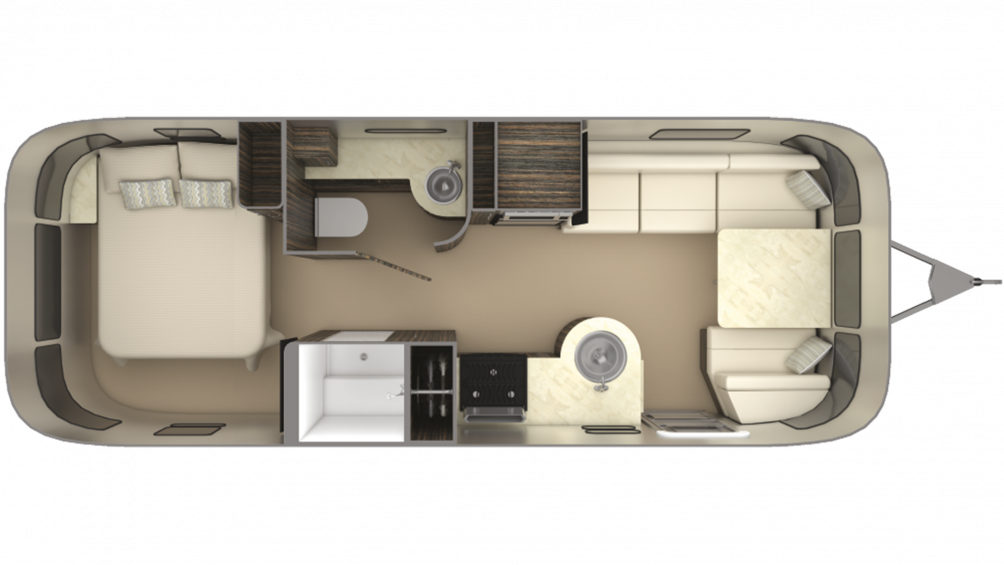 2019 Airstream International Signature 25RB Floor Plan Img