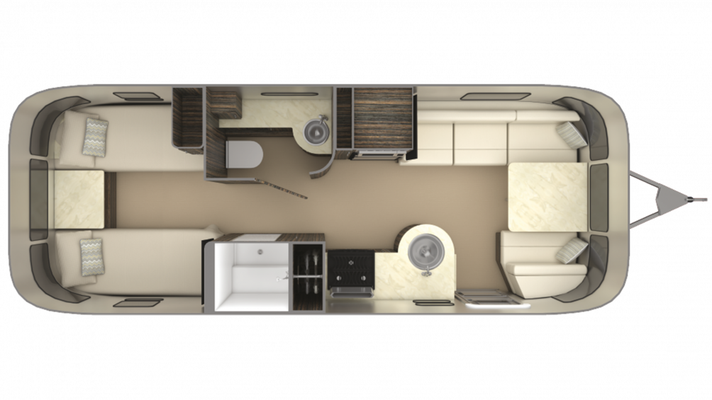 2019 Airstream International Signature 25RB TWIN Floor Plan Img