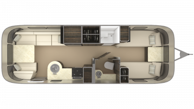 2019 Airstream International Signature 27FB TWIN Floor Plan Img