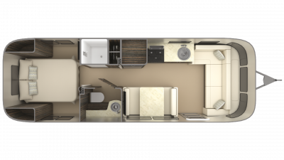 2019 Airstream International Signature 28RB Floor Plan Img