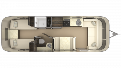 2019 Airstream International Signature 28RB TWIN Floor Plan Img