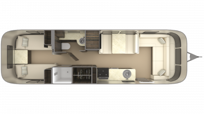 2019 Airstream International Signature 30RB TWIN Floor Plan Img