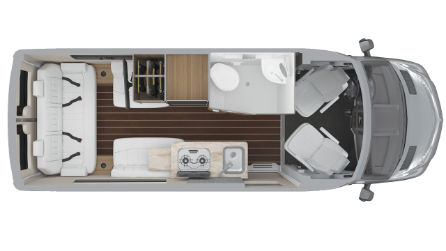 2020 Airstream Interstate 19 Tommy Bahama Edition Floor Plan