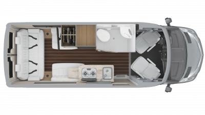 Airstream Interstate 19 Tommy Bahama Edition Floor Plan - 2020