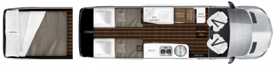 2019 Airstream Interstate EXT GRAND TOUR TWIN Floor Plan Img