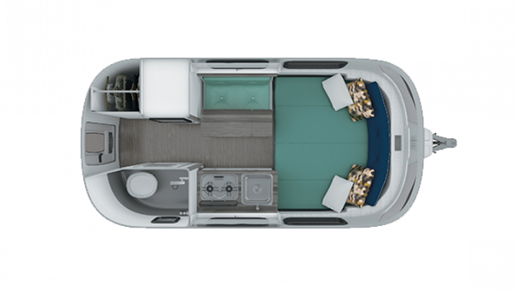 2019 Airstream Nest 16FB Floor Plan Img