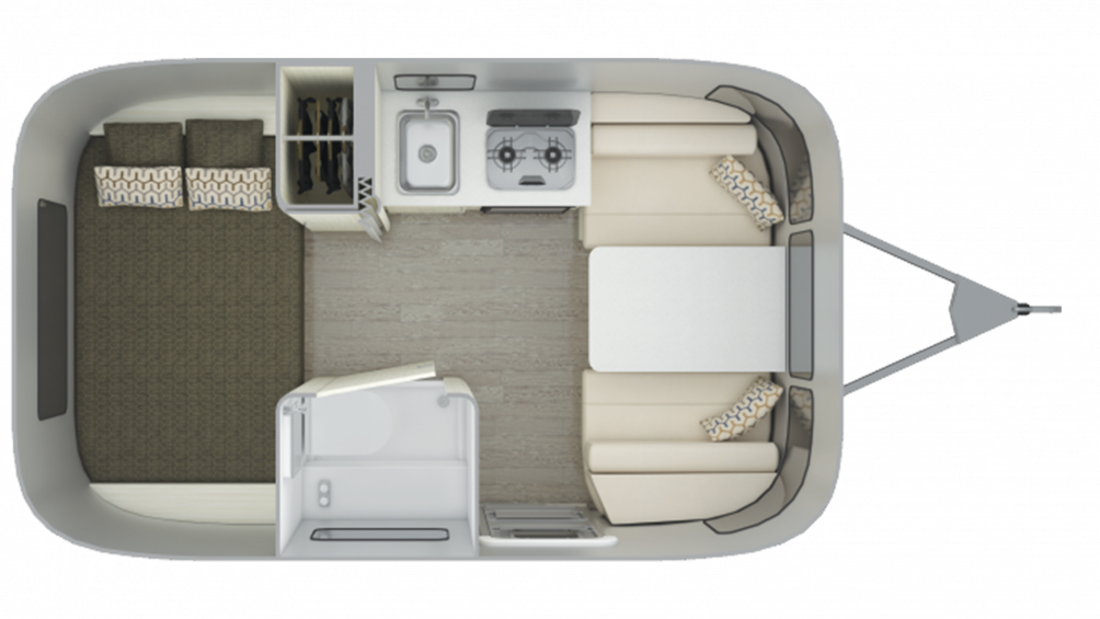 2019 Airstream Sport 16RB Floor Plan Img