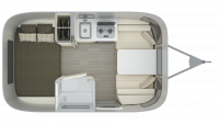 2019 Airstream Sport 16RB Floor Plan
