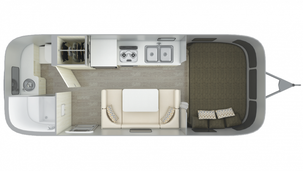 2019 Airstream Sport 22FB Floor Plan Img