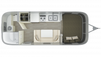 2019 Airstream Sport 22FB Floor Plan