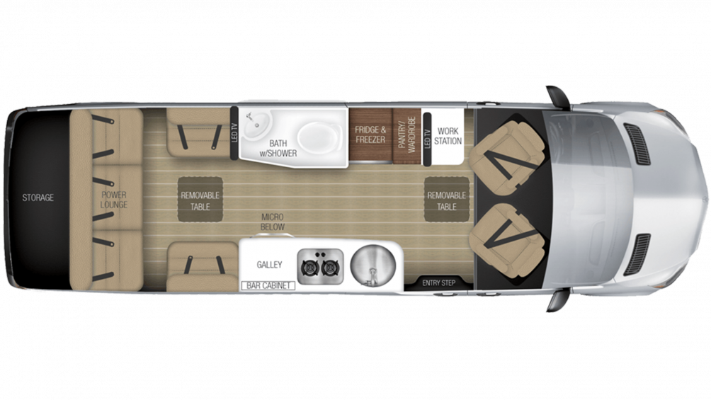 2019 Airstream Tommy Bahama Interstate EXT GRAND TOUR Floor Plan Img