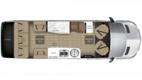 2019 Airstream Tommy Bahama Interstate EXT GRAND TOUR Floor Plan