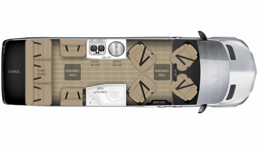 2019 Airstream Tommy Bahama Interstate EXT LOUNGE Floor Plan Img
