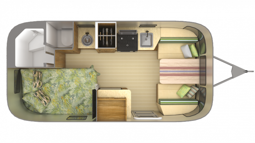 2019 Airstream Tommy Bahama Relax Edition 19CB Floor Plan Img