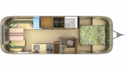 2019 Airstream Tommy Bahama Relax Edition 27FB Floor Plan Img