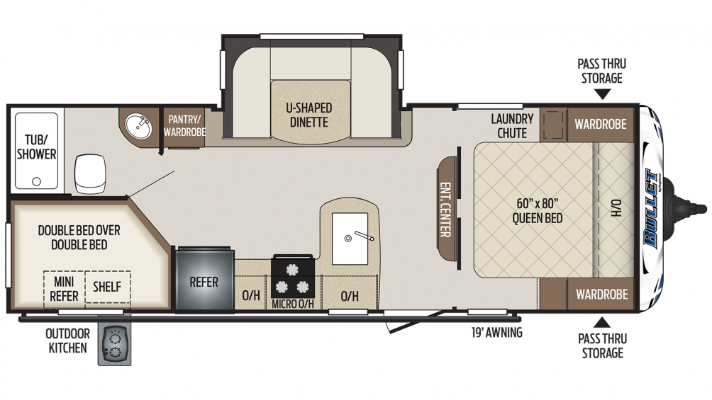 Bullet 243BHS Floor Plan - 2020