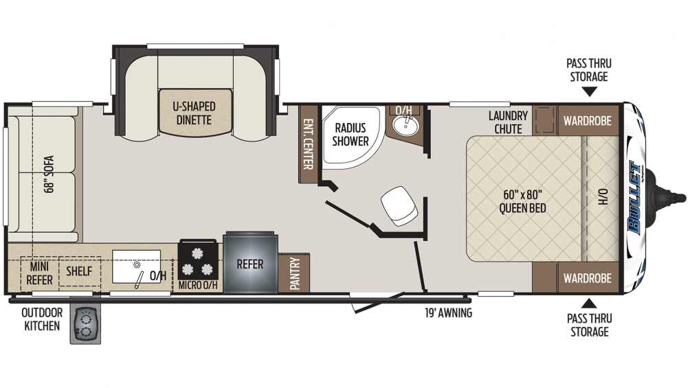 Bullet 257RSS Floor Plan - 2020
