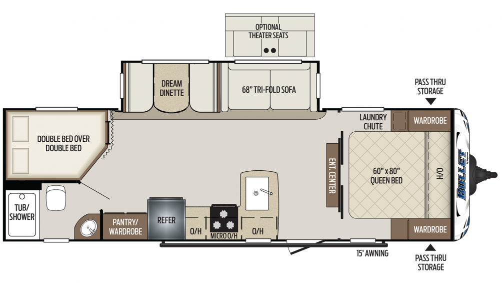 Bullet 273BHS Floor Plan - 2020