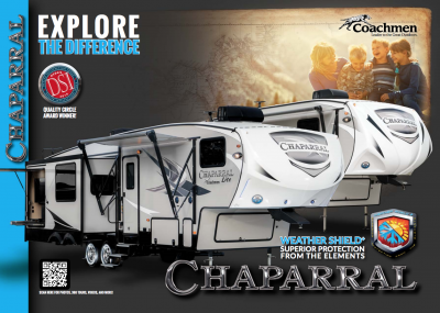 2018 Coachmen Chaparral RV Brochure Cover
